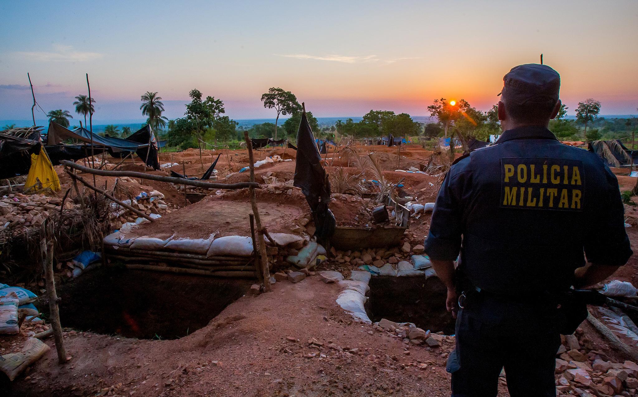 Forças de segurança iniciam nova ação para desocupação de garimpo