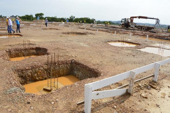 Obras do novo Hospital e Pronto-Socorro de Cuiabá chegam à fase intermediária de fundação