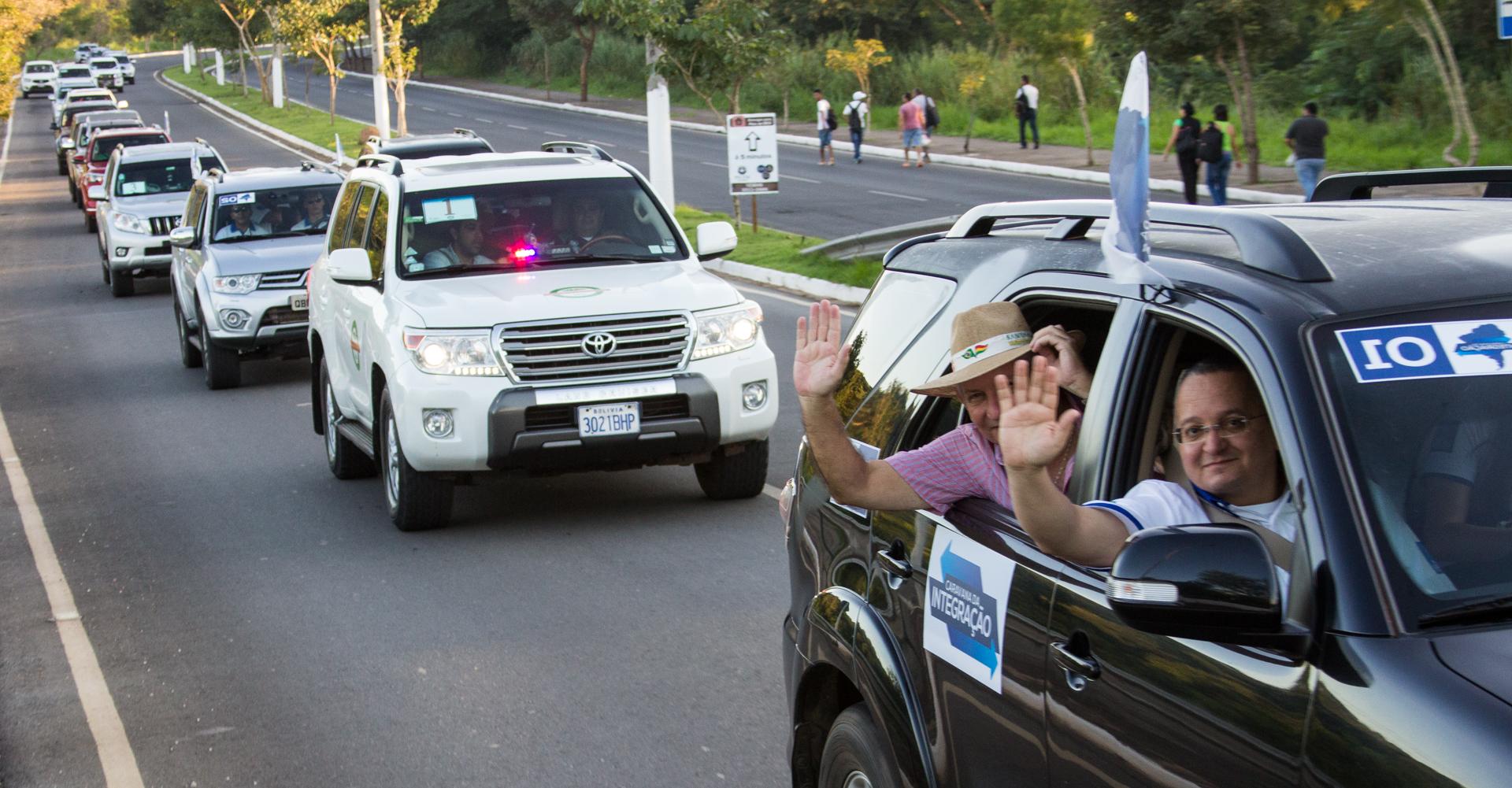 Caravana da Integração parte de Cuiabá rumo ao Pacífico