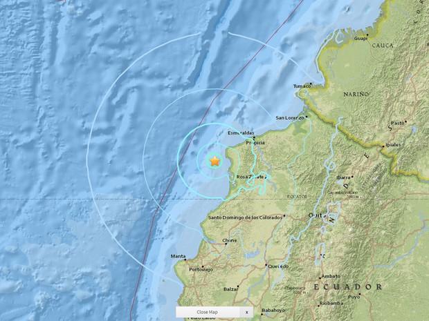Novo terremoto de magnitude 5,8 atinge costa do Equador
