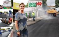 Avenida Ary Paes Barreto ganha nova pavimentação asfáltica