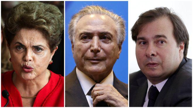 Pela 1ª vez na história, Brasil tem três presidentes em um só dia