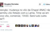 #ForçaChape: O tuíte que revelou proibição da Anac e mudança de planos antes de tragédia