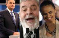 Lula tem 25%, Marina 15% e Aécio 11%, aponta pesquisa Datafolha para 2018