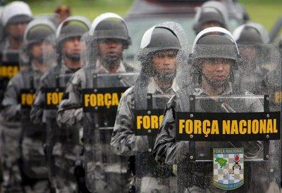 Força Nacional ficará no ES até que PM volte