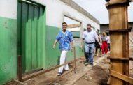 Várzea Grande : Prefeita anuncia pacote de ações para Bonsucesso e vistoria obra de reconstrução de escola municipal