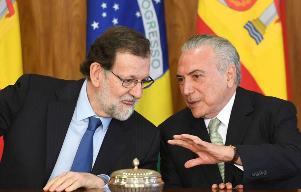 Temer coloca as reformas que Rajoy fez na Espanha como modelo para o Brasil