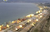 Imagens mostram exercício de artilharia realizado pela Coreia do Norte no aniversário do Exército