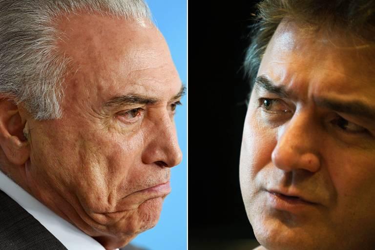 Resultado de imagem para oesley é condenado a pagar R$ 300 mil a Temer
