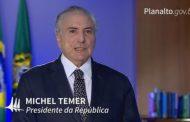 Temer diz em vídeo que não interfere nem permitirá intromissão entre poderes