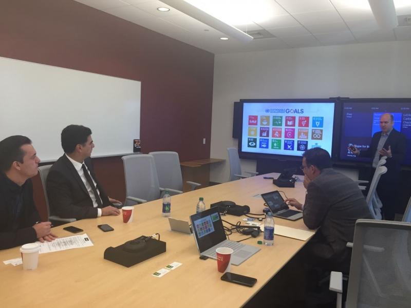 Prefeito Emanuel Pinheiro e Auxiliares na sede da Microsoft nos EUA.