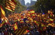 Milhares protestam contra declaração de independência da Catalunha em Barcelona