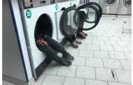 Imigrantes se abrigam em máquinas de lavar para fugir do frio em Paris