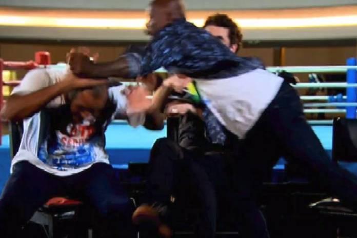 Felipe Andreoli quase leva soco na TV – Veja o ataque de fúria!