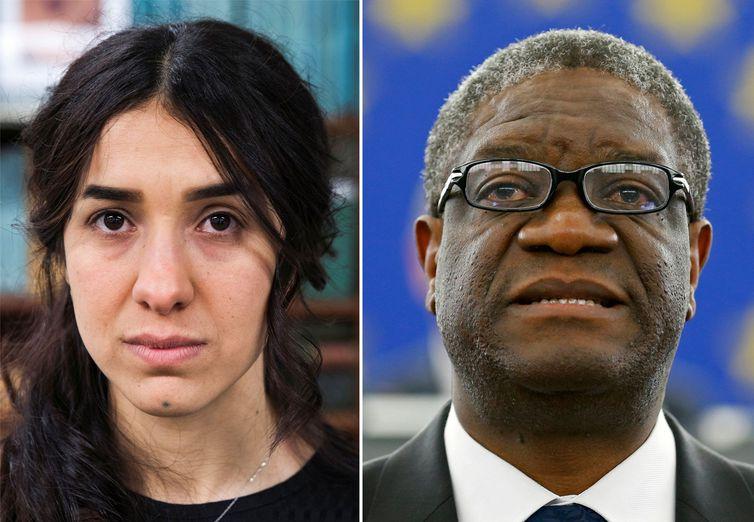 Prêmio Nobel da Paz vai para um médico congolês e uma ativista yazidi