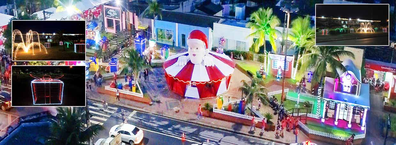 Várzea Grande têm vários pontos de decoração natalina e atrações culturais