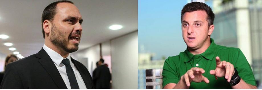 Carlos Bolsonaro provoca Luciano Huck após apresentador criticar fala de ministra
