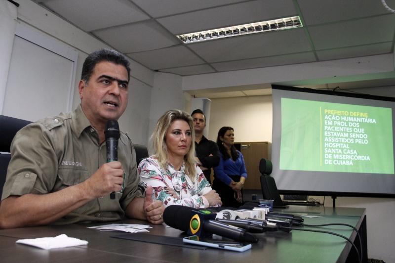 Cuiabá. Emanuel define ação humanitária em prol dos pacientes da Santa Casa