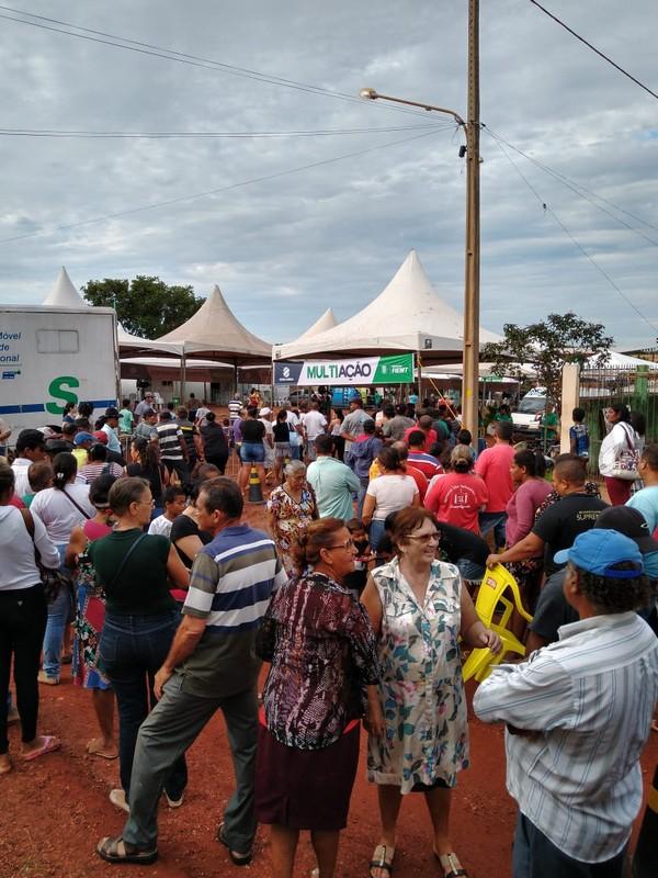 Primeira edição do Multiação de 2019 realiza mais de 9 mil atendimentos em bairro de Várzea Grande