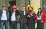 Macron recebe Raoni e assegura apoio da França ao seu projeto