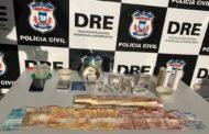 Polícia Civil prende 3 e fecha pela 2ª vez no ano ponto de venda de drogas no Pedregal