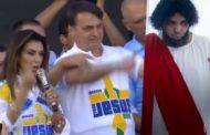 Globo parte pra cima e coloca Cristo detonando a Marcha para Jesus com Bolsonaro