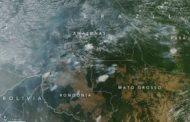 Os impressionantes registros da NASA sobre a Amazônia em chamas