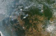 Fumaça de queimada em RO e AM já é visível de satélite da Nasa