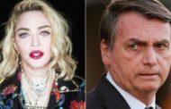 Madonna pede que Bolsonaro mude suas políticas e o chama de 'Borsalino'